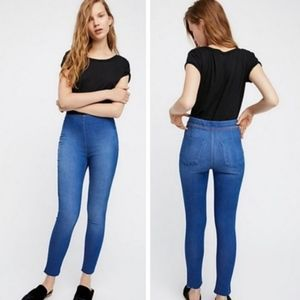 FREE PEOPLE Easy Goes It High Rise Raw Hem Jegging